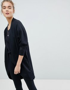 Read more about Nike long line cardigan in black - black black black