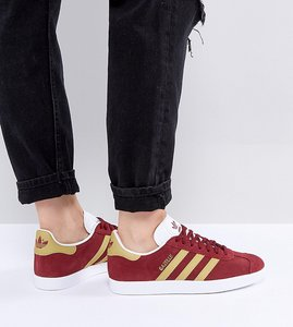 Read more about Adidas originals gazelle trainers in collegiate burgundy - burgundy