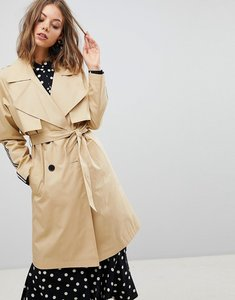 Read more about Stradivarius mac trench with side stripe - beige