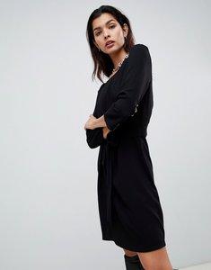 Read more about Vila tie waist dress - black