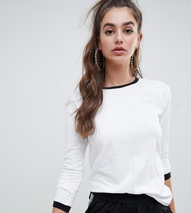 Read more about Noisy may tall sweatshirt with contrast ringer