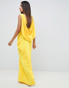 Read more about Asos design drape back maxi dress - yellow