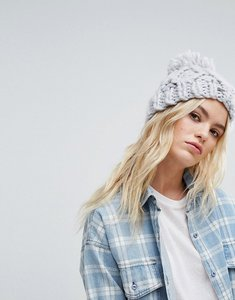 Read more about Hollister knitted beanie with pom pom - grey