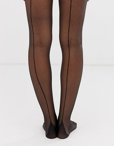 Read more about Gipsy french back seam tights - black