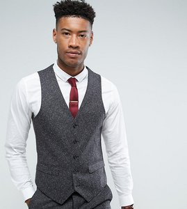 Read more about Harry brown tall skinny fit grey nep waistcoat - grey