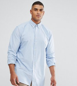 Read more about Polo ralph lauren tall oxford buttondown shirt in blue - blue