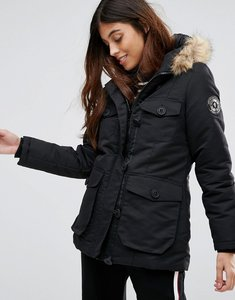 Read more about Brave soul riverdale heavy parka with rubberised trims - black