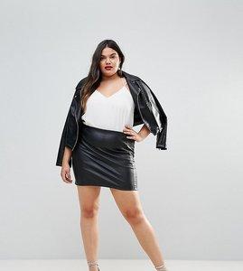 Read more about Asos curve sculpt me high waist mini skirt - black