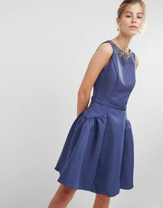 Read more about Little mistress prom dress with embellished neckline