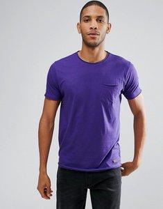 Read more about Brave soul basic raw edge t-shirt - purple