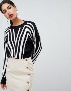 Read more about Vero moda colour block jumper - black
