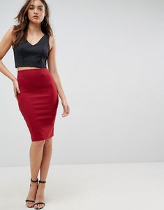 Read more about Asos high waisted pencil skirt - red