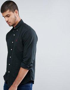 Read more about Polo ralph lauren shirt garment dye regular fit buttondown in black - rl black