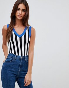 Read more about Missguided contrast stripe knitted bodysuit - multi