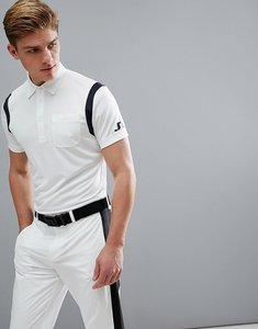 Read more about J lindeberg golf dolph slim fit tx jersey polo shirt in white - 0000
