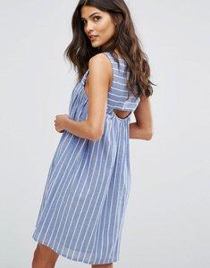 Read more about Mango cut out detail stripe smock dress - multi