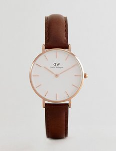 Read more about Daniel wellington dw00100171 petite bristol leather watch in brown 32mm - brown