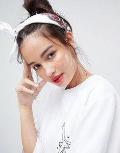 Read more about Asos ditsy floral print bandana - white