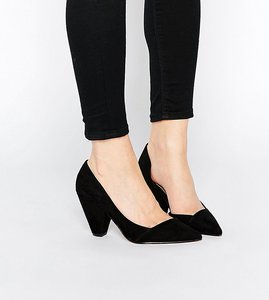 Read more about Asos sapphire wide fit pointed heels - black