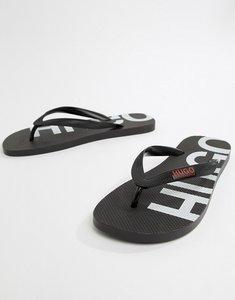 Read more about Hugo reverse logo flip flops in black - 001