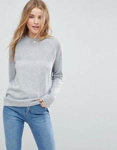 Read more about Asos jumper in eco yarn with ripple stitch - charcoal