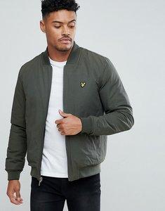Read more about Lyle scott reversible bomber jacket in black khaki - true black