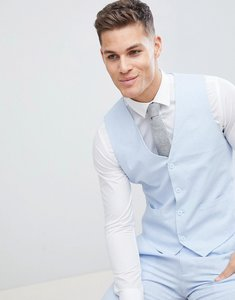 Read more about French connection wedding linen slim fit waistcoat - blue
