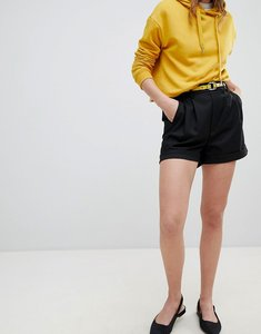 Read more about Bershka tailored short in black - black