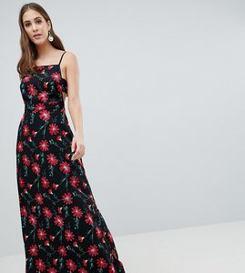 Read more about Asos design tall square neck maxi dress in floral print - multi