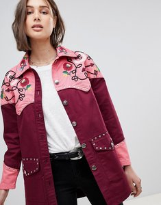Read more about Asos design western embroidered jacket - red