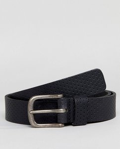 Read more about Esprit perforated leather belt - black