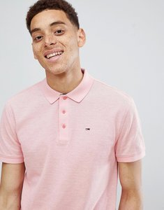 Read more about Tommy jeans summer oxford polo flag logo in light pink - pink