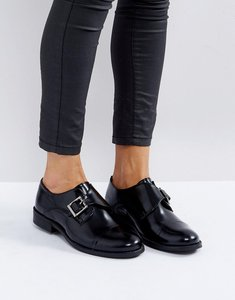Read more about Park lane monk leather shoe with buckles - blk box