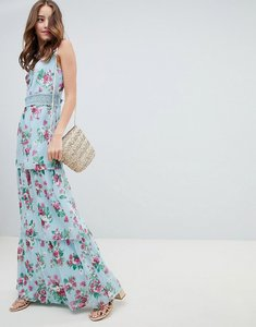 Read more about Miss selfridge tiered floral and ruffle dress - floral