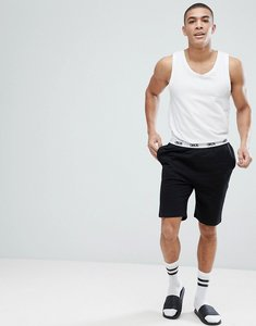 Read more about Asos skinny jersey pyjama short with branded waistband - black