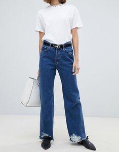 Read more about Mango raw hem wide leg jeans