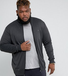 Read more about Duke king size knitted track jacket in charcoal - grey