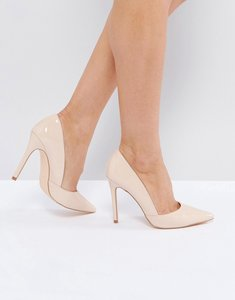 Read more about London rebel point high heels - nude pat