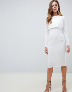 Read more about Asos design midi dress with boned corset - white