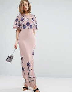 Read more about Asos premium maxi dress with embroidery - lilac