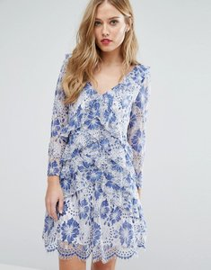 Read more about French connection antonia lace dress - meru blue
