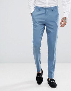 Read more about Asos wedding skinny suit trousers in airforce blue - blue