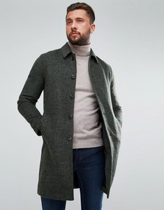 Read more about Asos wool mix trench coat in khaki texture - khaki