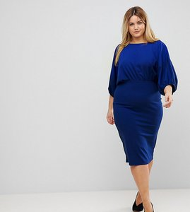 Read more about Asos curve batwing pencil midi dress - cobalt