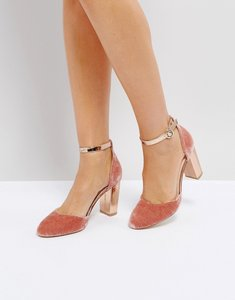 Read more about Coco wren block heel shoe - nude gold