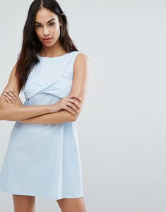 Read more about Missguided twist bralet 2 in 1 dress - blue