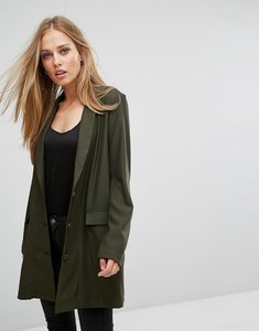 Read more about Selected longline blazer - green