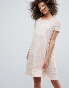 Read more about Traffic people printed lace shift dress - cream