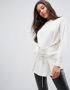 Read more about Asos top with corset detail - ivory