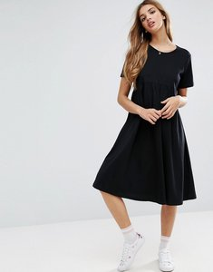 Read more about Asos ultimate midi smock dress - black